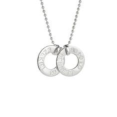 Kate personalised sterling silver pendant