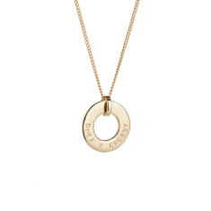 Katherine 9ct yellow, rose or white gold personalised pendant