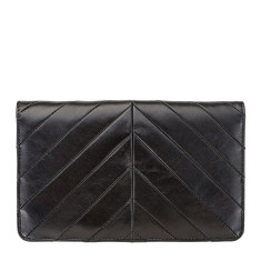 Mildred leather wallet in black