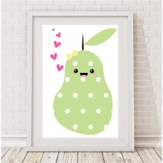 Kawaii pear print