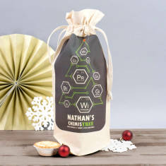 Personalised 'Chemistree' Christmas Wine Bag