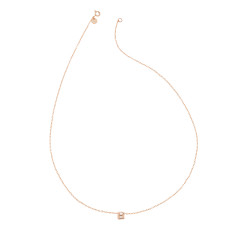 Mini initial necklace in rose gold vermeil