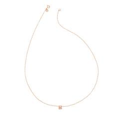 Mini initial necklace in rose gold vermeil