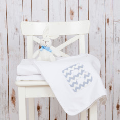 Personalised Baby Blanket with Zig Zag Chevrons