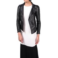 Black WB4 lambskin leather jacket