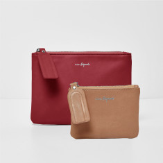 Dreamer Vegan Leather Clutch & Coin Purse Set (Various Colours)