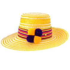 Santolina Pom Pom Hat #1