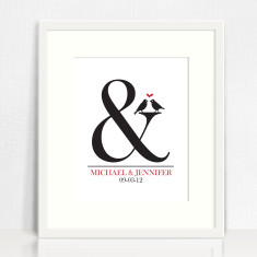 Ampersand personalised love print