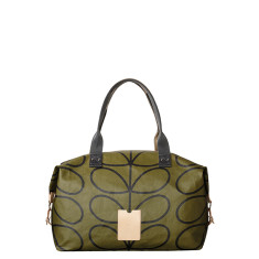 Etc by Orla Kiely zip holdall bag in giant linear stem