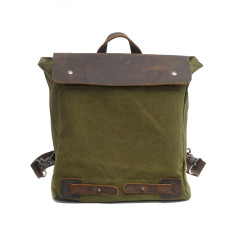 Green Canvas backpack bag