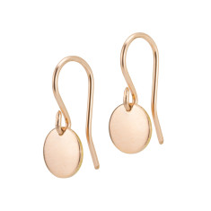 Rose gold small disc earrings