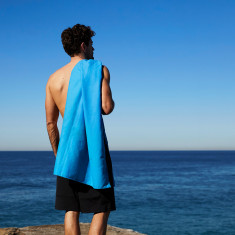 Classic Quick Dry Towel in Blue for Gym, Camp & Travel