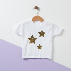 Stars Personalised Baby T Shirt