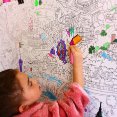Paris colour-in mural