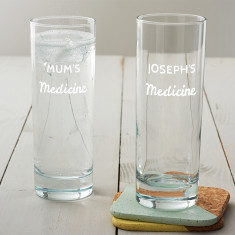 Personalised 'Medicine' Hi Ball Glass