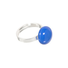 Bubblegum glass ring (various colours available)