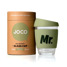 Army Mr. reusable glass cup (various sizes)