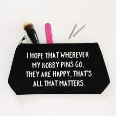 Lost bobby pins makeup bag