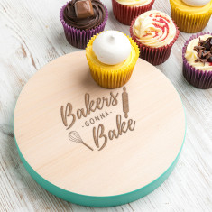 Bakers Gonna Bake Coloured Edge Serving Board