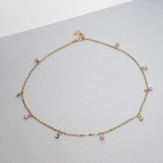 Astrid diamonte necklace (in gold or silver)
