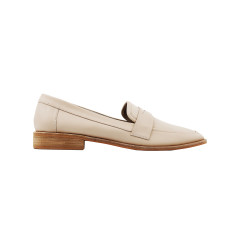 Leather Penny loafers in cream