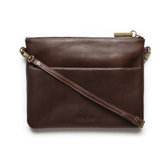 Juliette Classic Collection clutch bag in chocolate