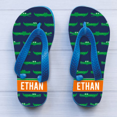 Personalised Boy's Thongs (Various Designs)