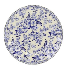 China blue side plate