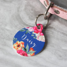 Floral Bouquet Pet ID Tag