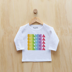 Girls' Personalised rainbow gradient long sleeve t-shirt