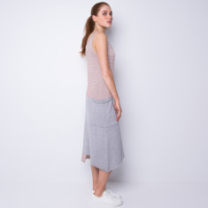 Big pocket long dress - terracotta