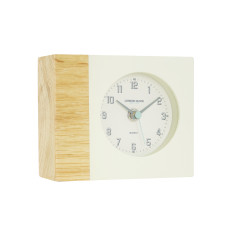 London Clock Company Tide Natural Wood & Dipped Cream Silent Mantle Clock