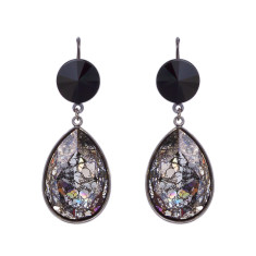 Swarovski pear shine earrings (various colours)