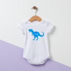 Personalised T Rex Dinosaur Baby Grow