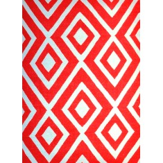Points red and white rug
