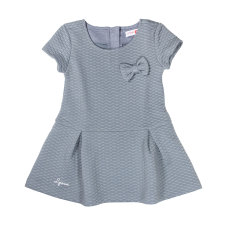 Girl's quilted dress in grey