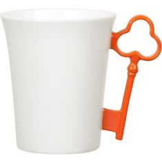 Orange key handle mug
