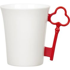 Red key handle mug