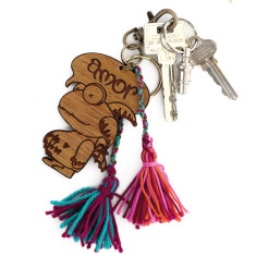 Monster keyring or novelty bag tag