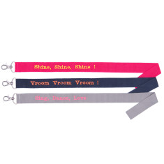 Personalised embroidered lanyard