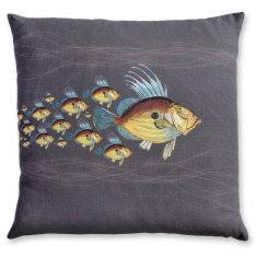 Dory School linen cushion cover