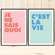 French duo art prints (set of 2)