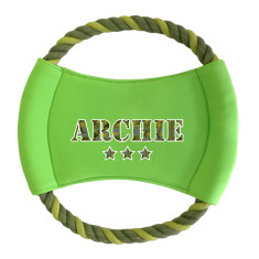 Personalised round rope frisbee in camo