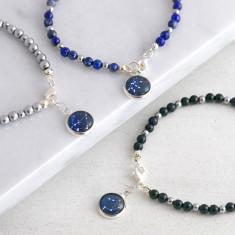 Gemstone Zodiac Charm Bracelet