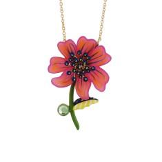 Psychedelic fuchsia cosmos necklace