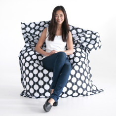Black white spots beanbag cover