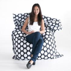 Black white spots beanbag cover