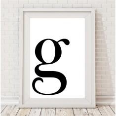 Custom initial letter print