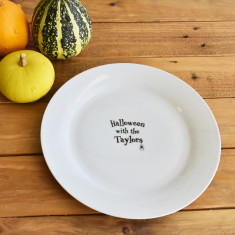 Halloween With The… Personalised Dinner Plate