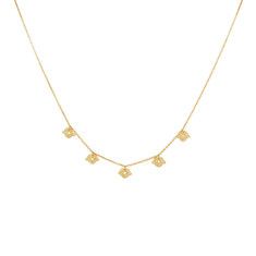 Beleza Choker in 18 KT Yellow Gold Plate
